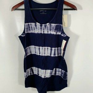 Universal Thread Navy Blue Tie Dye Tank Top NEW